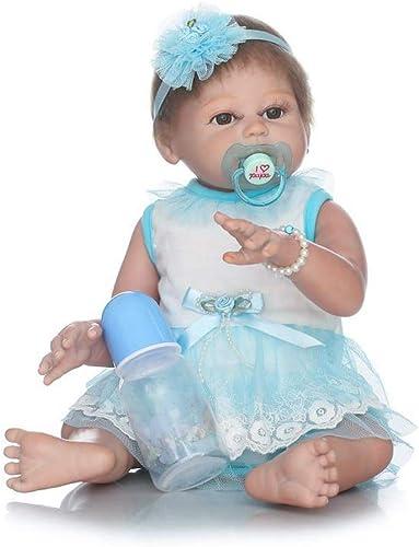 IIWOJ Reborn Baby Doll Sü nd Realistisch 5cm Simulation Big-Eyed Girl Silikonpuppe