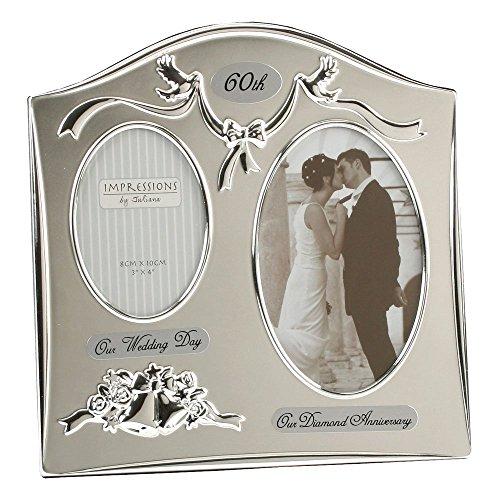 Unbekannt Cornice per Foto–Felice 60. Diamond Wedding Anniversary Dual Cornice per Foto