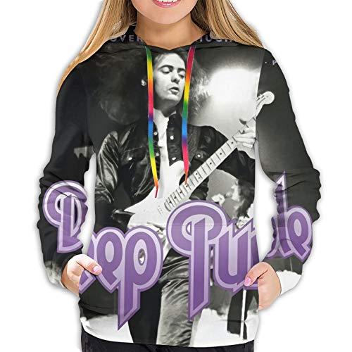 Deep Purple Live in Paris 1975 Women's Hooded Shirt Hoodies Sweater Sports Hoodie Sweatshirt Jacket X-Large