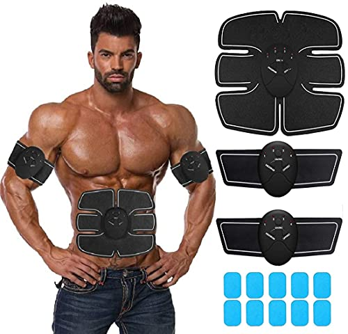 Abs Stimulating Belt- Abdominal Toner-Training Device for Muscles- Wireless Portable to-Go Gym Device- Muscle Sculpting at Home- Fitness Equipment for at-Home Workouts (Ab Stimulator Abs Ab Brown)