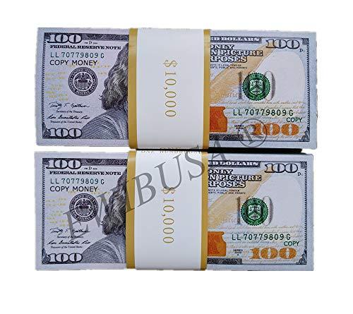 EWIBUSA Prop Money 100X100 Pcs Size : 6.14x2.59 in Prop Money Magician Porp,Movie Props