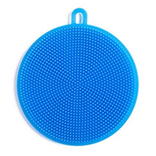 HYDT Spülbürste Silikon Bowl Brush Tuch Brush Bowl pad pad Topf Reinigungsgeschirrküchenreiniger (Color : Azul)