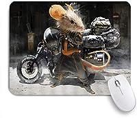 EILANNAマウスパッド 創造的な動物モーターマウスコミック面白い漫画動物絵画クールブラック ゲーミング オフィス最適 高級感 おしゃれ 防水 耐久性が良い 滑り止めゴム底 ゲーミングなど適用 用ノートブックコンピュータマウスマット