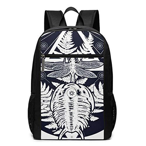 Sac à Dos Décontracté Scolaire Cartable Sacs école pour Garçons Filles Homme Femme Sac De Camping Voyage Laptop Backpack Symbole de Tatouage préhistorique paléontologie