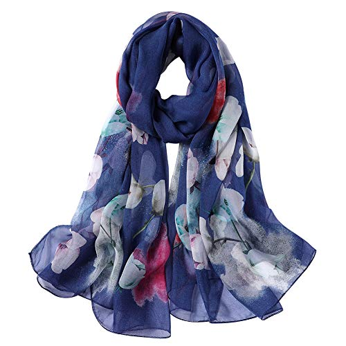 Donna Sciarpa di Seta di Colore Solido Impacchi di Scialle di, 100% Seta