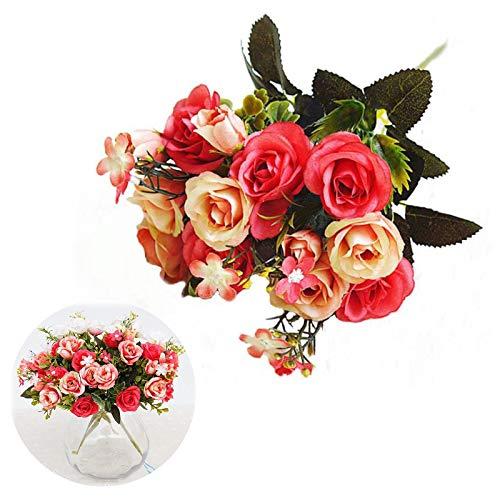 Mini Papier Rose Unechte Blumen Dekoration Plastik Rosen Deko Kunstblumen Künstliche Seide Künstliche Rose Blumen Brautstrauss Künstliche DIY Blume Home Hochzeitsdekoration Dekoration Ein Haufen