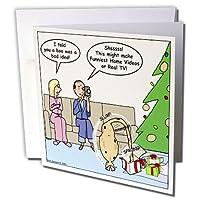 リッチDiesslins面白いクリスマス漫画–Bad Christmas Present Idea–Funniestホームビデオ–グリーティングカード Individual Greeting Card