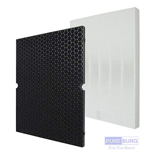 PUREBURG Replacement HEPA Filter + Activated Carbon Filter for Winix 5500-2 air Purifiers. Replaces Part # 116130 Filter H