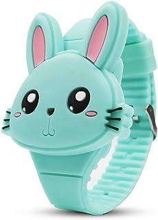 ساعة الأطفال ، الفتيات ووتش الرقمية لطيف الشكل LED أزياء الفرقة صدفية تصميم المعصم فتاة