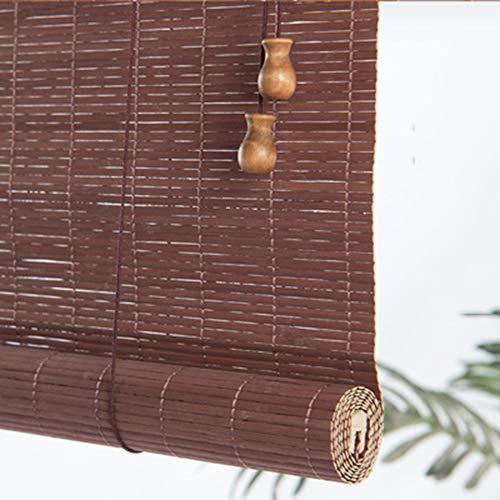 Bambusrollo, Bambus Rollo Jalousie Holz Außenrollläden Heben Fenstervorhänge, Patio/Pavillon/Pergola/Carport Roll-Up-Sonnenschutz, 60 cm / 90 cm / 100 cm Breit (Fuchsie)(90 * 220cm)