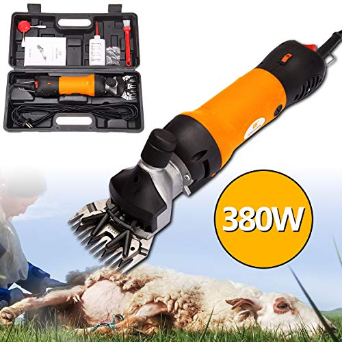 Ridgeyard Portable 380W Sheep Horse Shears Goat Electric Clippers, Animal Shave Grooming Farm Pet Livestock Supplies