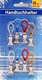 Global 2282 Handtuchhaken 8 Handtuchhalter chrom + Schlaufe