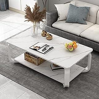 CJDM Table Basse Simple en métal, Petite Table Basse épaissie pour Petit Appartement, Petite Table carrée de Chambre de Lu...