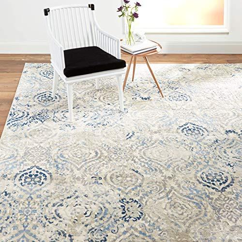 Home Dynamix Melrose Audrey Area Alfombra Rectangular, 1 '6 x 2 '6 Pulgadas, Color Marfil/Azul