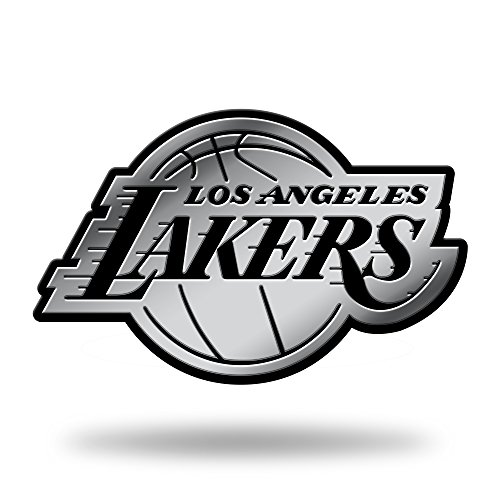 NBA Rico Industries Chrome Finished Auto Emblem 3D Sticker, Los Angeles Lakers