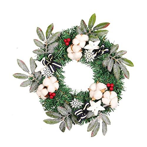 NICETOW Decoração de Natal Grinalda de PVC À Prova D