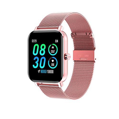 IJONDA - Reloj inteligente para hombre y mujer, pantalla de 1,3 pulgadas, podómetro, pulsómetro, grado de protección IP68, impermeable, apto para iOS Android-Two Bands