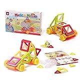Bloques magnéticos de colores, 38 piezas, bloques de construcción de plástico, juguete para niños, una gran idea de regalo, pensamiento creativo y destreza.