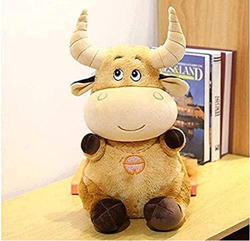 NC196 Lindo Juguete de Peluche de Vaca marrón Mascota Toro Suave niño niña Creativo cumpleaños 30 cm