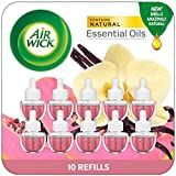 Air Wick Plug in Scented Oil Refill, Vanilla and Pink Papaya, Air Freshener, Essential Oils, 10 Count