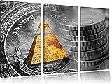Illuminati Pyramide, black and white Dollar schwarz/weiß