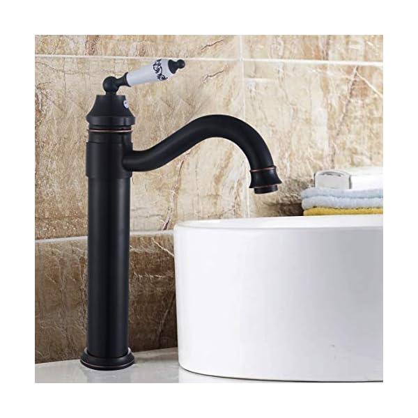 Solepearl Grifo de Lavabo, Bambú Cocina Baño Grifo Lavabo Grifo, Grifo de Baño con Función de Regulación de Agua Fría y…