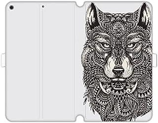 Etui na Apple iPad 10.2 (2021) - etui na tablet Wallet Book Fantastic - aztecki wilk - pokrowiec książkowy case obudowa wzory