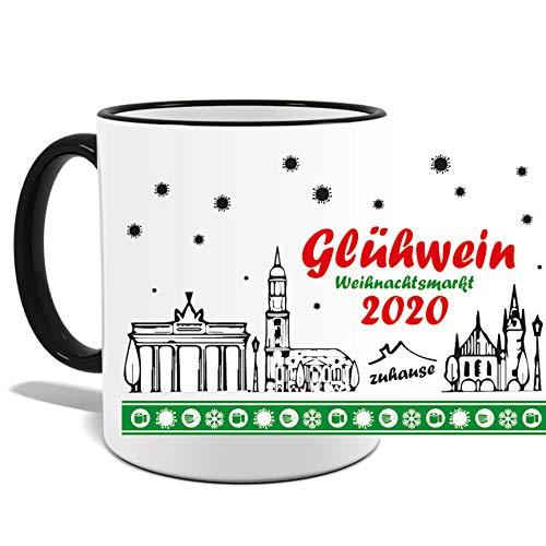 deine Mudder JOllify Tasse Weihnachtsmarkt 2020 Weihnachten Glühwein Zuhause Becher