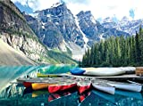 Agirlgle Jigsaw Puzzles 1000 Pieces for Adults for Kids, Jigsaw Puzzles Moraine Lake- 1000 Pieces Jigsaw Puzzles,Softclick Technology Means Pieces Fit Together Perfectly