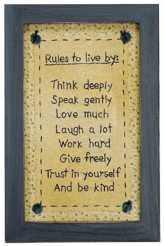 Stitcheries par Kathy Sign – Rules to Live by