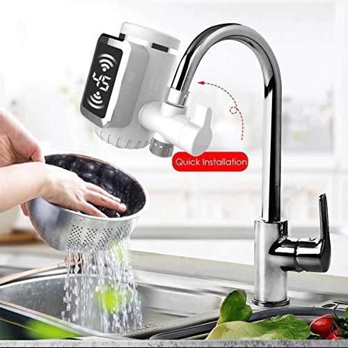 HUOGUOYIN Elektrisch Warmwasserhahn Wasser-Durchlauferhitzer Küche Kalte Heizung Hahn Tankless Digital-Durchlauferhitzer Wasserhahn Mit Adapter