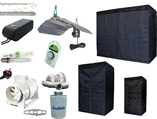LUMii LIGHTHOUSE Hydroponic Grow Tent Kit HPS 400w 600w 1m x1m to 1.2 x 2.4 (400w 1.2m x 1.2m x 2m (1.2m2))