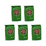 Mundo Feliz - Nueces pecanas ecológicas, 5 bolsas de 100g