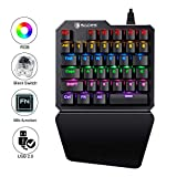 (Black Switch)One-Handed RGB Mechanical Gaming Keyboard SADES Half Keyboard Gaming Keypad Small Gaming Keyboard for PUBG/Fps Games/LOL/APEX/CSGO/Rainbow Six