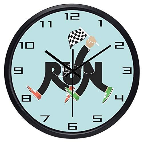 Horloge Murale Creative Leg Run Sport Marathon Horloge Murale Marche Course Match Horloge 12 Pouces B130B