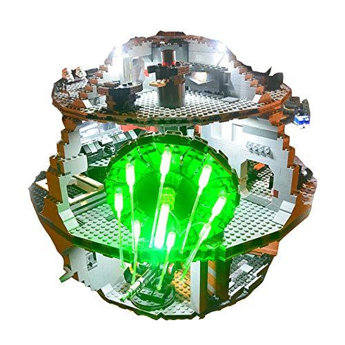 QZPM LED Beleuchtung Licht-Set DIY Leuchtende Bausteine Zubehör für Lego 75159 Star Wars Todesstern Lighting Bricks (Enthält Keine Spielzeugmodelle)