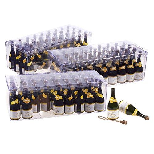 Juvale Set van 108 Bulk Bubble Wand Party Favors - Champagne Flesvormige Wands voor bruiloften, feesten, kinderen verjaardagen, vieringen, groen