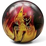 Brunswick Rhino Reactive Pre-Drilled Bowling Ball, Red/Black/Gold Pearl, 13