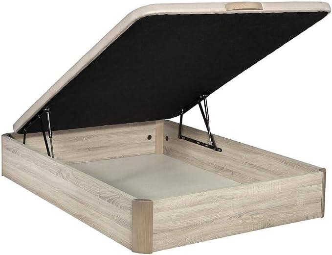 Santino Canapé Abatible Wooden Gran Capacidad Cambrian 180x190 cm con Montaje a Domicilio Gratis