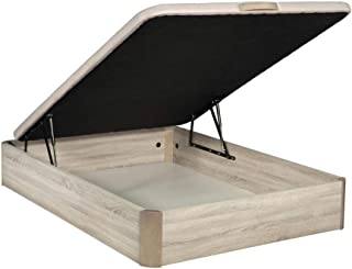 comprar comparacion Santino Canapé Abatible Wooden Gran Capacidad Cambrian 135x190 cm con Montaje a Domicilio Gratis