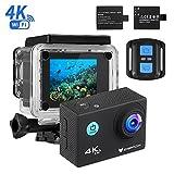 Action Cam 4k, icefox Unterwasser 30M Sport Action Kamera mit 2 wiederaufladbaren Akku, WIFI...