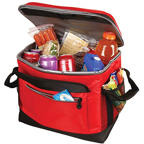 Coleman Soft Cooler Bag | Collapsible Design for Easy Storage | 40 Can Cooler, Red