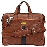 Blowzy PU Leather 14 inch Laptop Expandable Shoulder Messenger Sling Office Bag