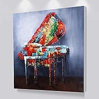 キャンバスに印刷楽器プリントピアノ壁アート絵画北欧の装飾写真現代の家の装飾アートプリント-30x30cmフレームなし