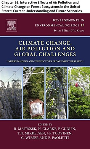Climate Change, Air Pollution and Global Challenges: Chapter 16. Interactive Effects of Air Pollution and Climate Change on Forest Ecosystems in the United ... Science Book 13) (English Edition)