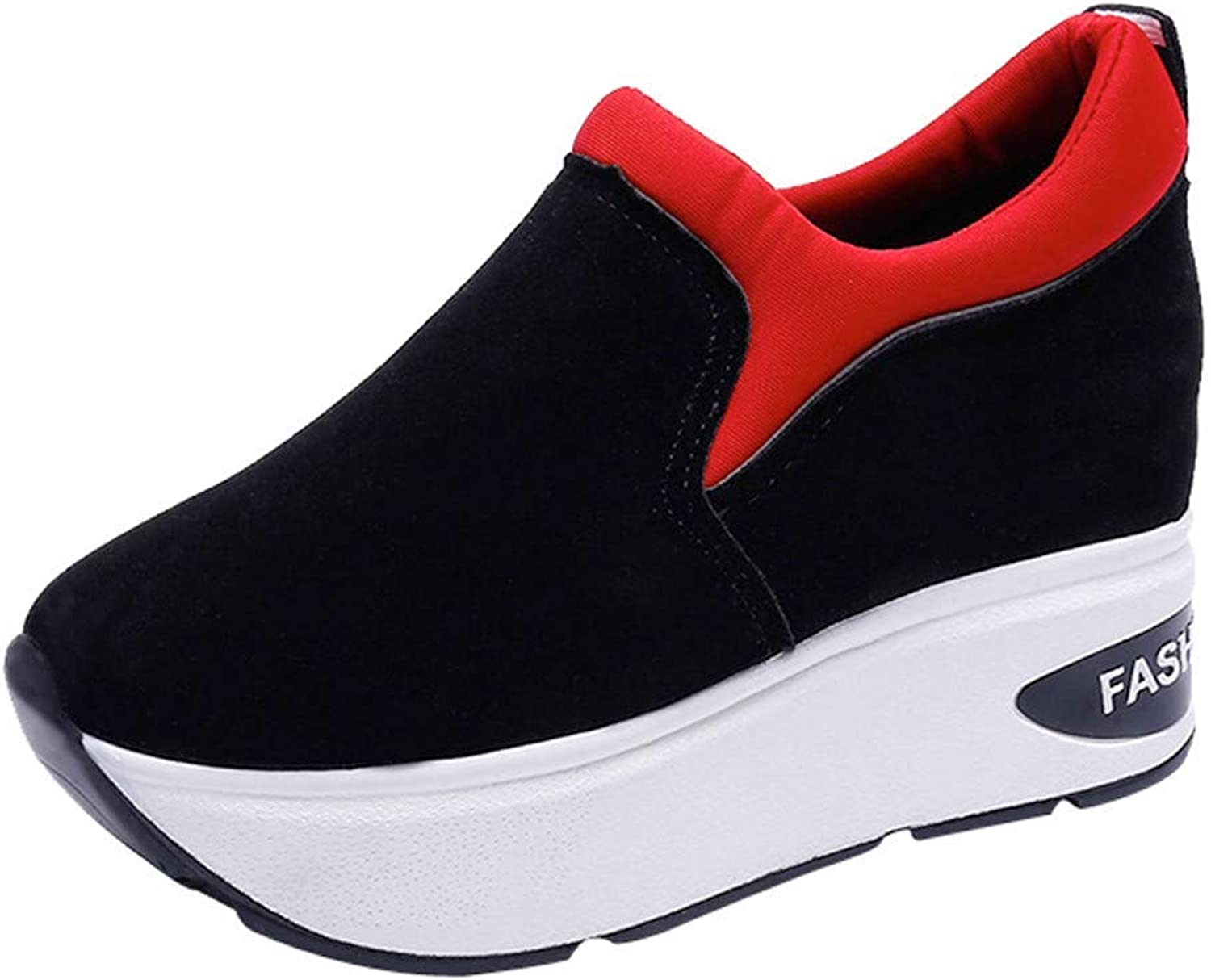 GouuoHi Womens Sport Women Sport shoes Outdoor Suede Casual Thick Soled Enhance shoes Shake shoes Fashion Cosy Wild Casual Quality Super Elegant Leisure for Womens