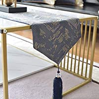 ホームダイニングのテーブル ランナー、家の装飾 Table Mat タッセルシンプルなスタイルツイルランナー多目的屋内および屋外でのホームキッチンテーブルランナーテーブルランナーコットンリネンテーブルランナー 美しく、リラックスできる住まい LLNN (Color : Blue, Size : 30*180cm)