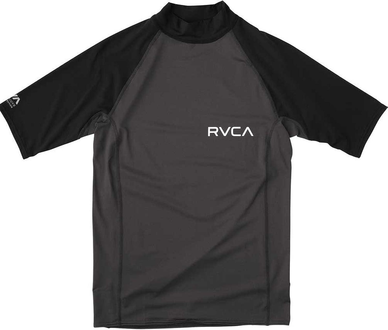 RVCA Big Boys ' Solid半袖ラッシュガード