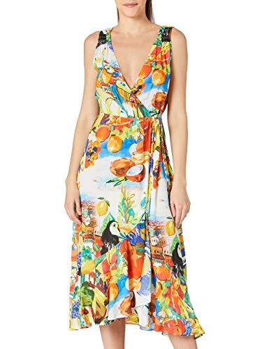 Desigual Vest_Ibiza Swimwear Cover Up, Verde, M Donna