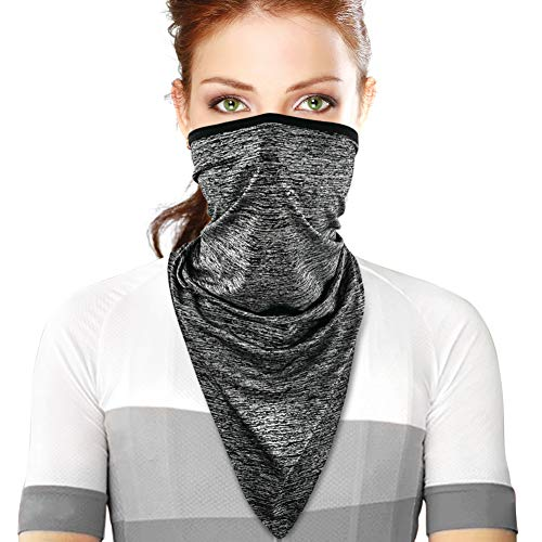 Face Bandana Mask Neck Gaiter Scarf for Man Women Outdoor Hiking Cycling Running (Gray)